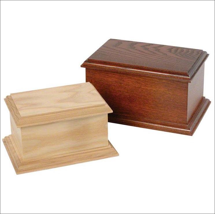 Large wooden casket